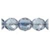 Fire Polished 10mm Crystal/Blue Coated